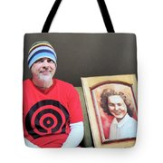 The Artist And His Latest Painting Tote Bag