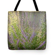 The Lavender Outside Her Window Tote Bag