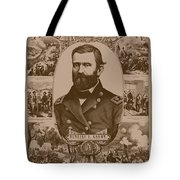 The Leader And His Battles - General Grant Tote Bag