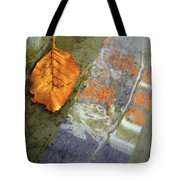 The Leaf And The Reflections Tote Bag