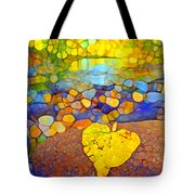 The Leaf At The Creek Tote Bag