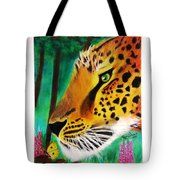 The Leopard And The Butterfly Tote Bag