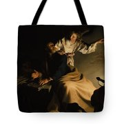 The Liberation Of Saint Peter Tote Bag by Abraham Bloemaert