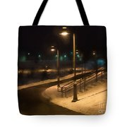 The Library Path In Winter Tote Bag