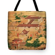 The Life And Pastimes Of The Japanese Court - Tosa School - Edo Period Tote Bag