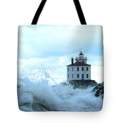 The Light At Fairport Harbor Tote Bag