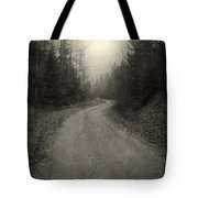 The Light At The End Of The Road Tote Bag
