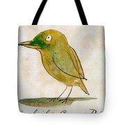 The Light Green Bird Tote Bag