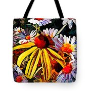 The Light Within The Flowers Tote Bag