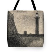The Lighthouse At Honfleur Tote Bag