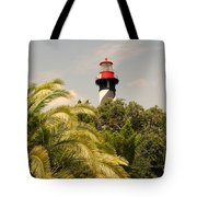 The Lighthouse In Saint Augusrtine Fl Tote Bag