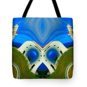 The Lighthouse Racetrack Tote Bag