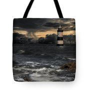 The Lighthouse Storm Tote Bag