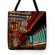 The Lights Are On In Las Vegas Tote Bag