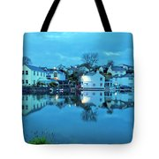 The Lights Come On In Mylor Bridge Tote Bag