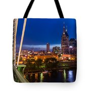 The Lights Of Music City Tote Bag
