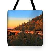 The Linn Cove Viaduct At Sunrise Tote Bag