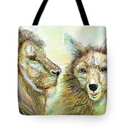 The Lion And The Fox 3 - To Face How Real Of Faith Tote Bag