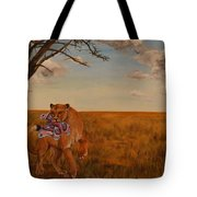 The Lion And The Moth Tote Bag