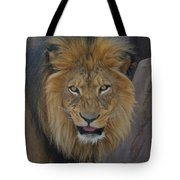 The Lion Dry Brushed Tote Bag