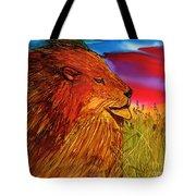 The Lion King Of Massai Mara Tote Bag