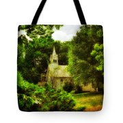The Little Church On The Corner Tote Bag