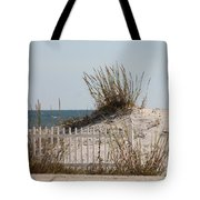 The Little Dune And The White Picket Fence Tote Bag