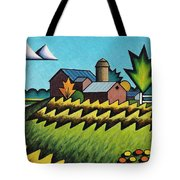 The Little Farm On The Grassy Hill Tote Bag