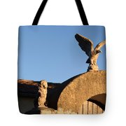 The Little Lion And The Soaring Eagle Who Watches Over Him Tote Bag