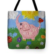 Little Pink Elephant Tote Bag