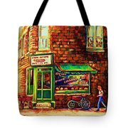 The Little Red Wagon Tote Bag