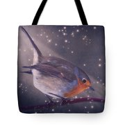 The Little Robin At The Night Tote Bag