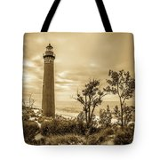 The Little Sable Lighthouse Tote Bag