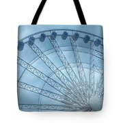 The Liverpool Wheel In Blues 2 Tote Bag