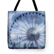 The Liverpool Wheel In Blues Tote Bag