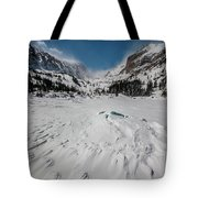 The Loch Under Snow Tote Bag