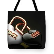 The Lock Code Puzzle Heart. Tote Bag