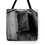 The Loft Door In Black And White Tote Bag