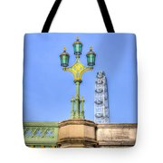 The London Eye And Westminster Bridge Tote Bag