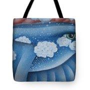 The Lone Bluebird Tote Bag