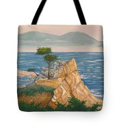The Lone Cypress Tree Tote Bag