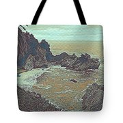 The Lone Waterfal By The Hidden Cove Tote Bag