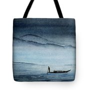 The Lonely Boat Man Tote Bag