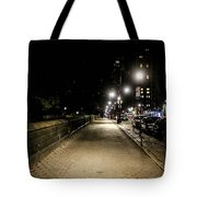 The Lonely Street By Central Park Ny Tote Bag
