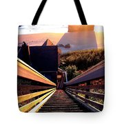 The Long Long Stairway    Tote Bag