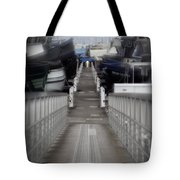 The Long Walk To Work Tote Bag