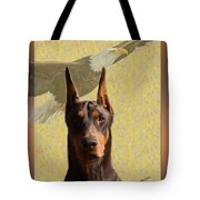 Dobermans..the Look Of The Eagle Tote Bag