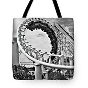 The Loop Black And White Tote Bag