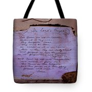 The Lord's Prayer Collage Tote Bag