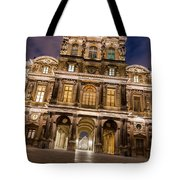 The Louvre Museum At Night Tote Bag